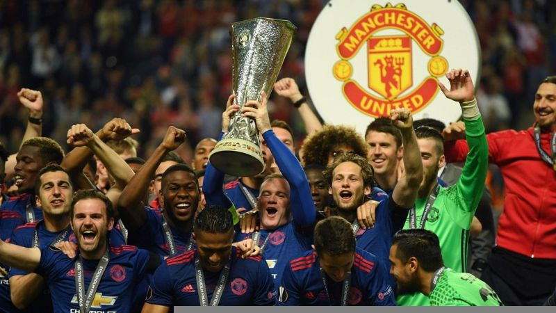 Image result for Manchester United Europa league celebrations
