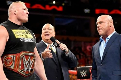 Kurt Angle had words of high praise for Brock Lesnar