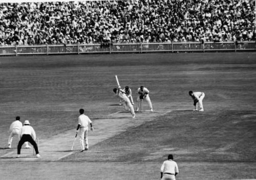 Australia Competing In Cricket Test