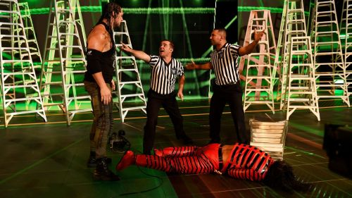 Corbin jumps Nakamura mid entrance, Money in The Bank 2017