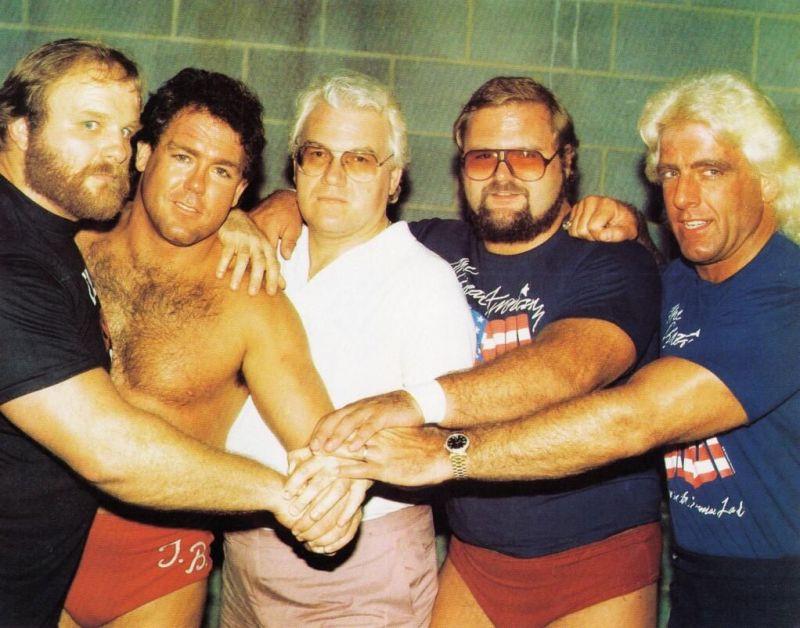 The original Horsemen line up, with JJ Dillon.