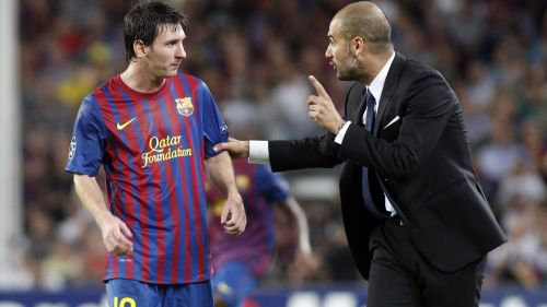 Pep with one of the best players to play under him