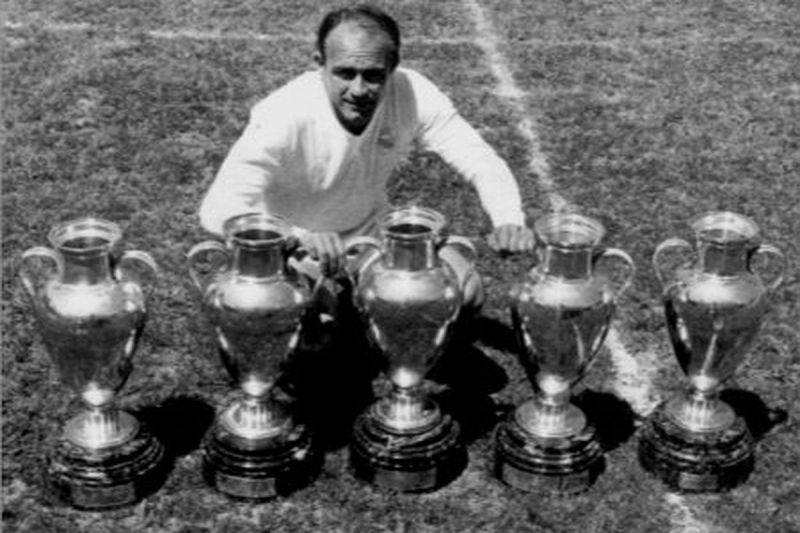 Alfredo Di Stefano won 5 consecutive European Cup's with Real Madrid