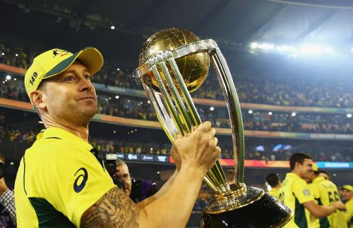 Michael Clarke led Australia to the 2015 World Cup