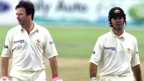 Ponting and Steve Waugh's brilliant partnership could not prevent Australia from losing an exciting Test against West Indies