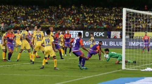 Kerala Blasters FC against FC Pune City in ISL