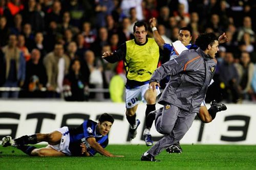 The brawl between Valencia and Inter Milan in 2007 shamed both clubs