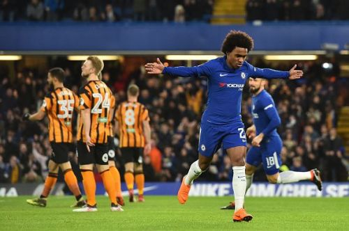 Willian was adjudged man of the match on the night