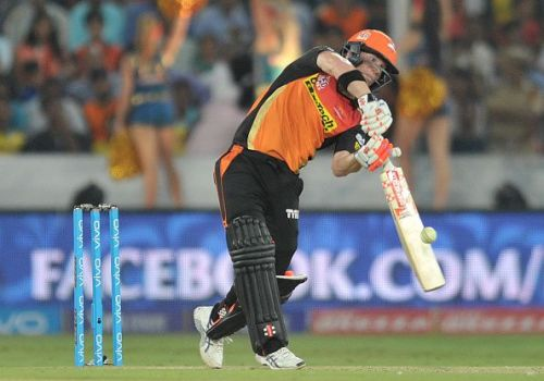 David Warner leads the Sunrisers from the front