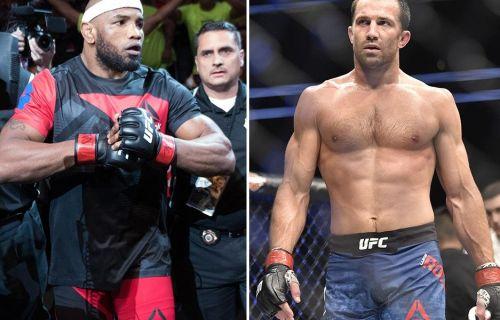 Yoel Romero (Left) does battle with Luke Rockhold (Right) at UFC 221