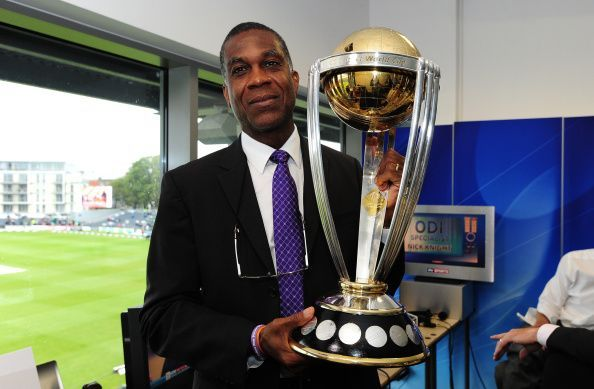 The ICC Cricket World Cup Trophy at the England v India - Royal London One-Day Series 2014