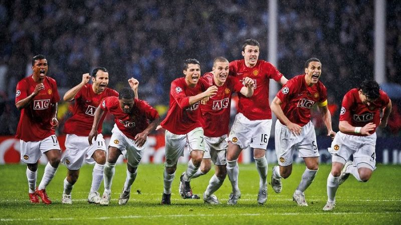 Manchester United had won the Premier League title, completing a European double