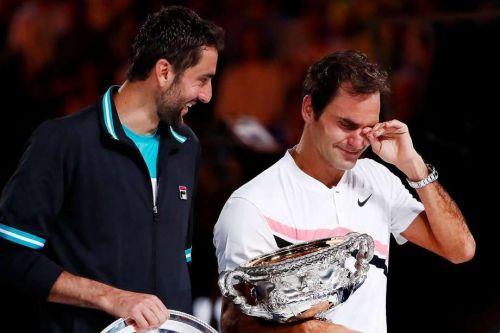 Federer's emotions were on display
