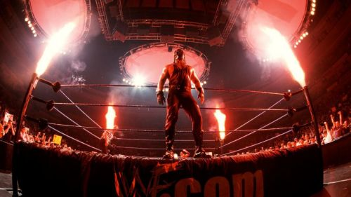 Kane appeared at a live event - but not with his usual brimstone