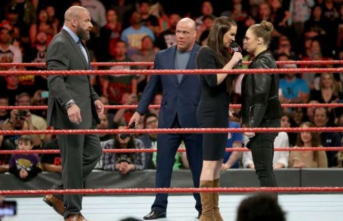 The next time we see these four in a ring together will be on the go-home show for Mania.