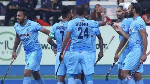 India maintained their hopes of progressing with a win against the hosts