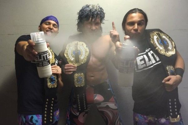 Kenny Omega and The Young Bucks are a part of The Elite