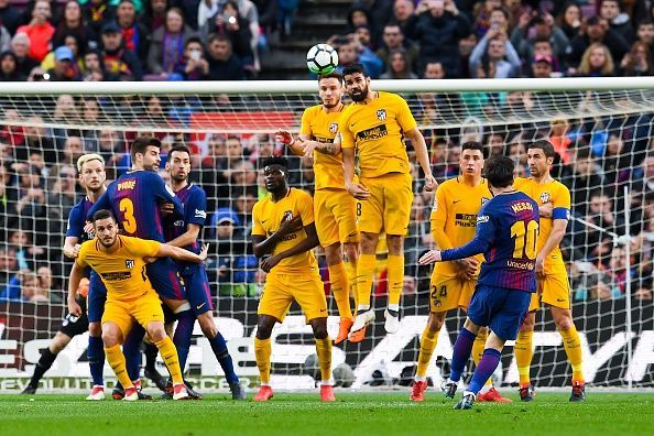 cb0502eea Twitter reacts as Lionel Messi s 600th career goal gives Barcelona 1-0 win  over Atletico Madrid
