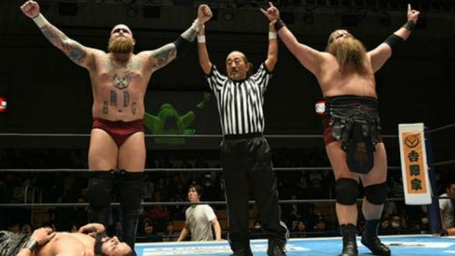 It won't be these guys wrestling Sheamus and Cesaro