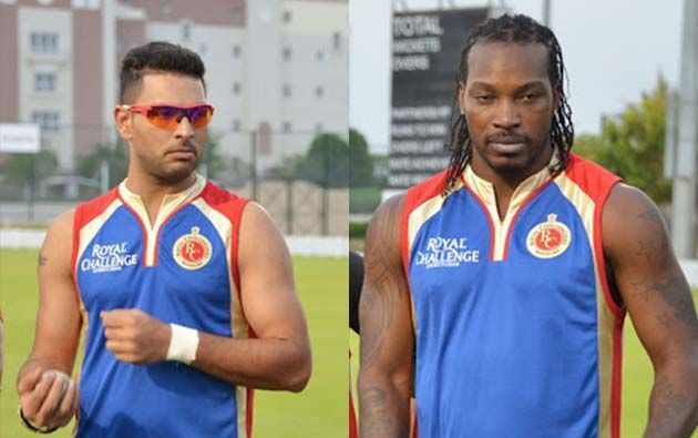 Yuvraj Singh and Chris Gayle played for Royal Challengers Bangalore in the IPL 2014 (Image Credit: royalchallengers.com)
