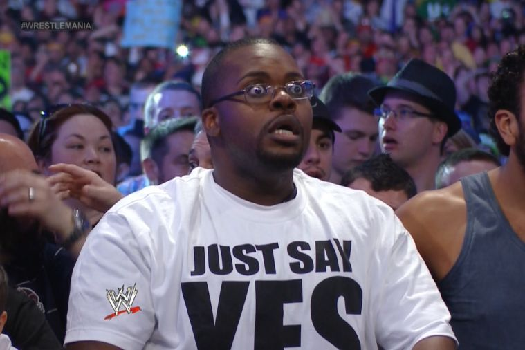 A fan in disbelief when Lesnar conquered the Streak.