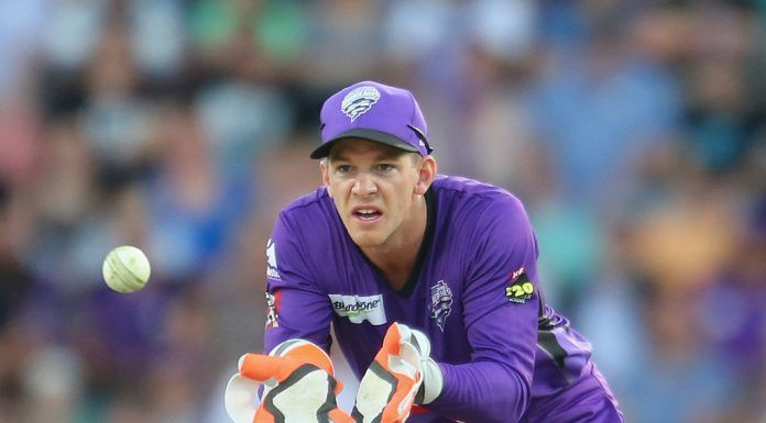 Tim Paine in action for Hobart Hurricanes.