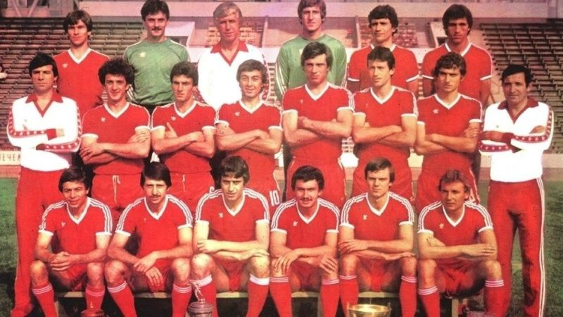 The CSKA Sofia side of 1981-82 that eliminated Liverpool in the quarterfinals