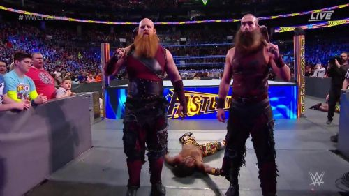 The Bludgeons Brothers forced a match stoppage after striking a man who wasn't even in the match!