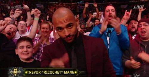 Ricochet in the crowd at an NXT Takeover