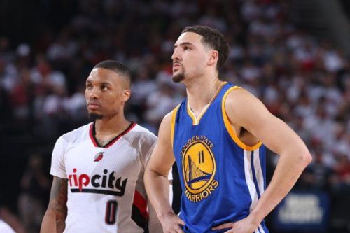 Damian Lillard and Klay Thompson