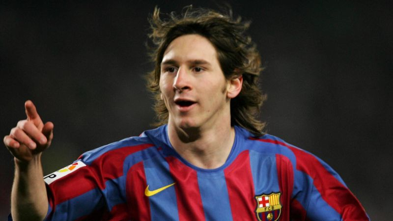 Messi started his career as right winger
