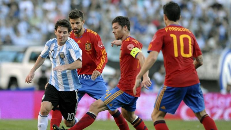 Image result for spain football team 2010 vs argentina