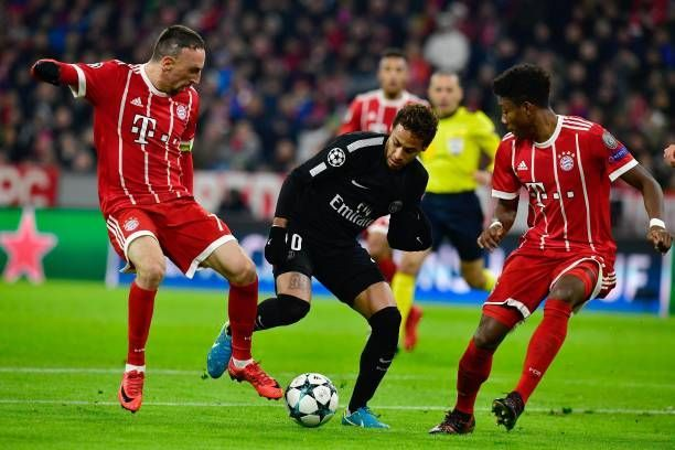 Neymar in Champions League competition against Bayern Munich 2017/18