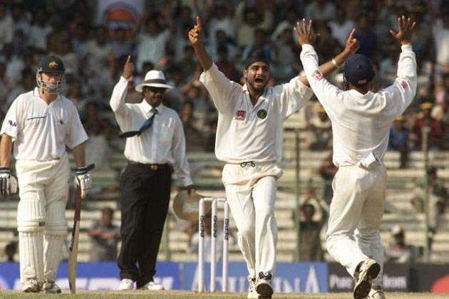 Harbhajan Singh bagged 15 wickets in the match to help India clinch the series.