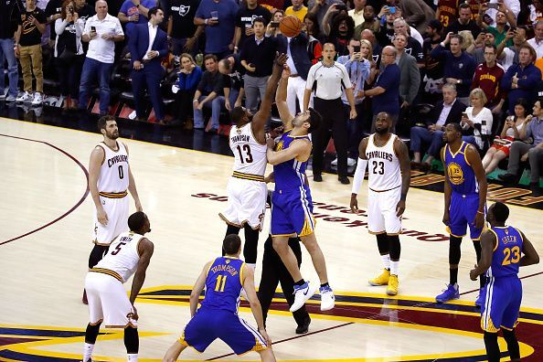 2017 NBA Finals took place between Golden State Warriors and the Cleveland Cavaliers