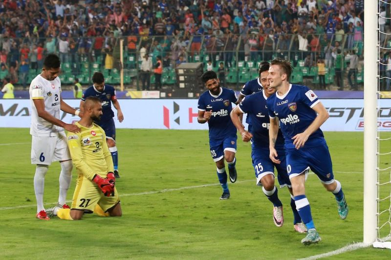 Rene Mihelic scored the only goal of the game from the spot [Photo: ISL]