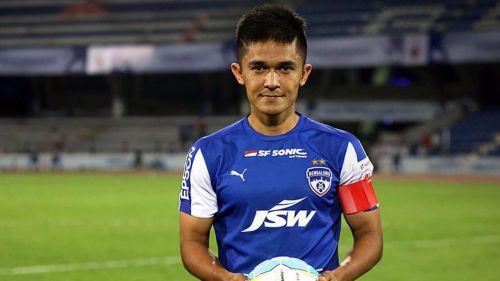 Chhetri scored his first hat-trick for Bengaluru FC
