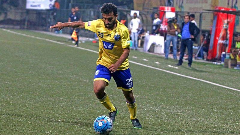 Nikhil Kadam during his Mumbai FC days.
