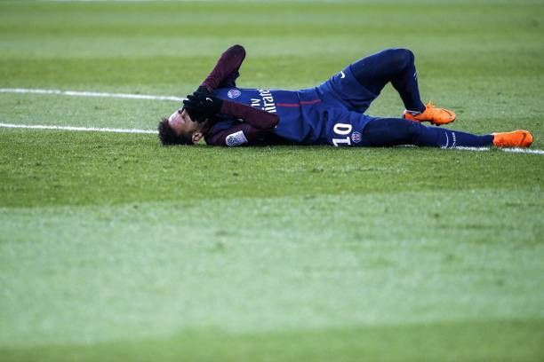 PSG's Neymar injured during a recent Ligue 1 game