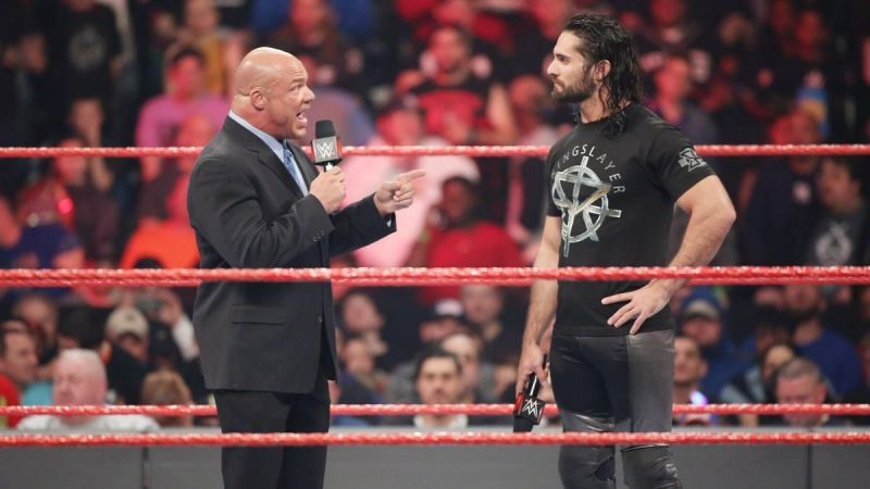 Seth Rollins and Kurt Angle