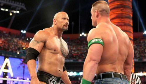 Once in a lifetime: John Cena v Rock!