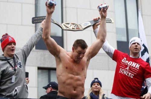 Rob Gronkowski teases move to WWE