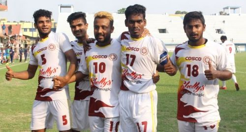Jubilant Bengal players after their win
