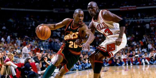 Gary Payton and Michael Jordan