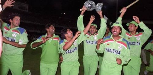 Pakistan got their hands on the World Cup in 1992