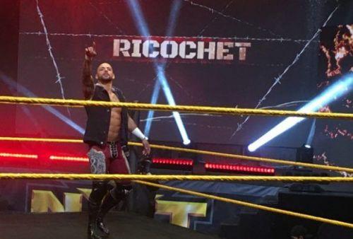 Ricochet at an NXT event