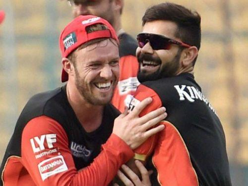 AB de Villiers and Virat Kohli share a great bond