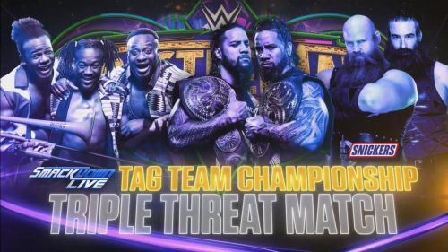 The Tag Team Championship match for WrestleMania has now been confirmed