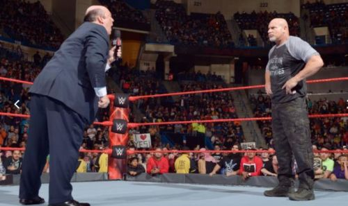 Paul Heyman and Goldberg have have quite a bit of history