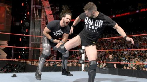 Image result for wwe finn balor hits seth rollins